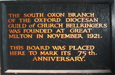 South Oxon Diocesan Guild plaque